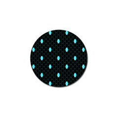 Blue Black Hexagon Dots Golf Ball Marker (10 Pack) by Mariart