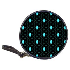 Blue Black Hexagon Dots Classic 20 Cd Wallets by Mariart