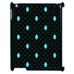 Blue Black Hexagon Dots Apple Ipad 2 Case (black) by Mariart