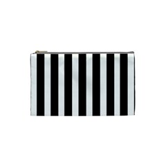Black White Line Vertical Cosmetic Bag (small)  by Mariart