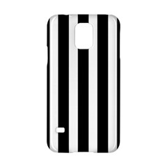 Black White Line Vertical Samsung Galaxy S5 Hardshell Case  by Mariart