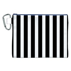 Black White Line Vertical Canvas Cosmetic Bag (xxl) by Mariart