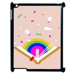 Books Rainboe Lamp Star Pink Apple Ipad 2 Case (black) by Mariart