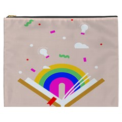 Books Rainboe Lamp Star Pink Cosmetic Bag (xxxl)  by Mariart