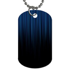 Black Blue Line Vertical Space Sky Dog Tag (one Side) by Mariart