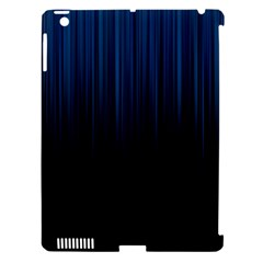 Black Blue Line Vertical Space Sky Apple Ipad 3/4 Hardshell Case (compatible With Smart Cover) by Mariart