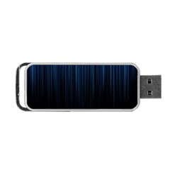 Black Blue Line Vertical Space Sky Portable Usb Flash (two Sides) by Mariart