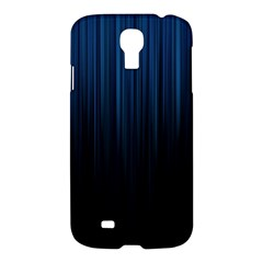 Black Blue Line Vertical Space Sky Samsung Galaxy S4 I9500/i9505 Hardshell Case by Mariart