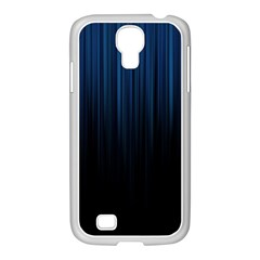 Black Blue Line Vertical Space Sky Samsung Galaxy S4 I9500/ I9505 Case (white) by Mariart