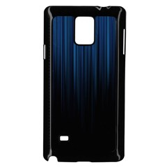Black Blue Line Vertical Space Sky Samsung Galaxy Note 4 Case (black) by Mariart