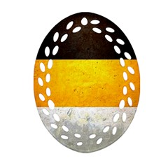 Wooden Board Yellow White Black Ornament (oval Filigree) by Mariart