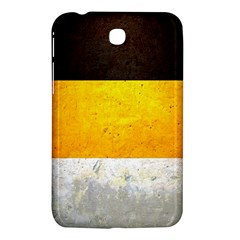 Wooden Board Yellow White Black Samsung Galaxy Tab 3 (7 ) P3200 Hardshell Case  by Mariart