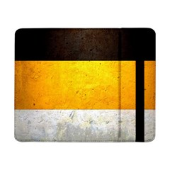 Wooden Board Yellow White Black Samsung Galaxy Tab Pro 8 4  Flip Case by Mariart