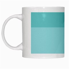 Dachis Beach Line Blue Water White Mugs by Mariart