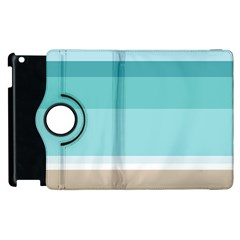 Dachis Beach Line Blue Water Apple Ipad 2 Flip 360 Case by Mariart