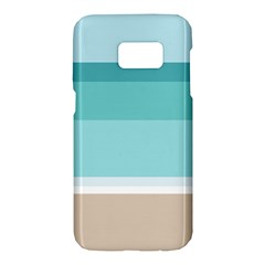 Dachis Beach Line Blue Water Samsung Galaxy S7 Hardshell Case  by Mariart