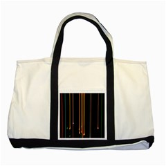 Fallen Christmas Lights And Light Trails Two Tone Tote Bag by Mariart