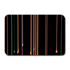 Fallen Christmas Lights And Light Trails Plate Mats by Mariart