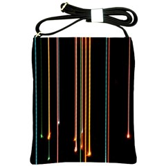 Fallen Christmas Lights And Light Trails Shoulder Sling Bags by Mariart