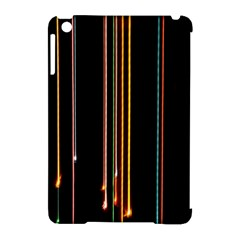 Fallen Christmas Lights And Light Trails Apple Ipad Mini Hardshell Case (compatible With Smart Cover) by Mariart