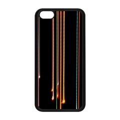 Fallen Christmas Lights And Light Trails Apple Iphone 5c Seamless Case (black) by Mariart
