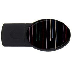 Falling Light Lines Perfection Graphic Colorful Usb Flash Drive Oval (4 Gb) by Mariart