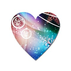 Christmas Heart Magnet by Mariart