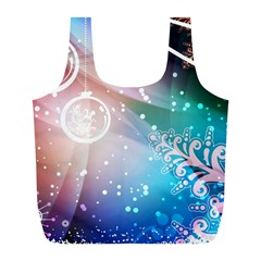 Christmas Full Print Recycle Bags (l)  by Mariart