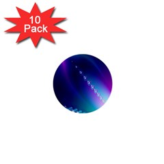 Flow Blue Pink High Definition 1  Mini Buttons (10 Pack)  by Mariart