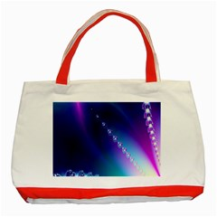 Flow Blue Pink High Definition Classic Tote Bag (red) by Mariart