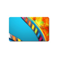 Color Dream Polka Magnet (name Card) by Mariart