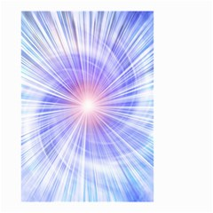 Creation Light Blue White Neon Sun Small Garden Flag (two Sides) by Mariart