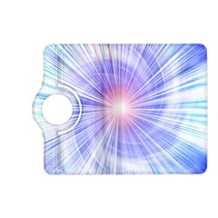 Creation Light Blue White Neon Sun Kindle Fire Hd (2013) Flip 360 Case by Mariart
