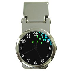 Green Black Widescreen Money Clip Watches by Mariart
