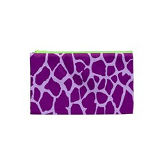 Giraffe Skin Purple Polka Cosmetic Bag (xs) by Mariart
