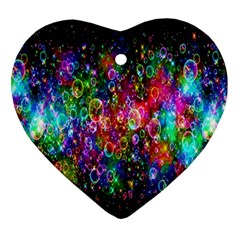 Colorful Bubble Shining Soap Rainbow Ornament (heart) by Mariart