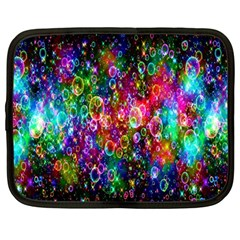 Colorful Bubble Shining Soap Rainbow Netbook Case (large) by Mariart