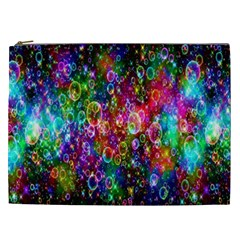 Colorful Bubble Shining Soap Rainbow Cosmetic Bag (xxl)  by Mariart