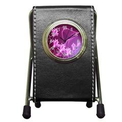 Lotus Sunflower Sakura Flower Floral Pink Purple Polka Leaf Polkadot Waves Wave Chevron Pen Holder Desk Clocks by Mariart