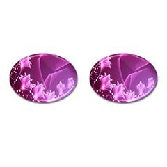 Lotus Sunflower Sakura Flower Floral Pink Purple Polka Leaf Polkadot Waves Wave Chevron Cufflinks (oval) by Mariart