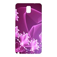 Lotus Sunflower Sakura Flower Floral Pink Purple Polka Leaf Polkadot Waves Wave Chevron Samsung Galaxy Note 3 N9005 Hardshell Back Case by Mariart