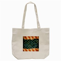 Grunge Ripped Paper Usa Flag Tote Bag (cream) by Mariart