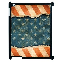 Grunge Ripped Paper Usa Flag Apple Ipad 2 Case (black) by Mariart