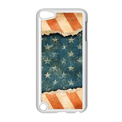 Grunge Ripped Paper Usa Flag Apple Ipod Touch 5 Case (white) by Mariart