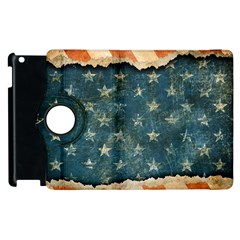 Grunge Ripped Paper Usa Flag Apple Ipad 3/4 Flip 360 Case by Mariart