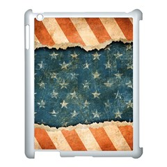 Grunge Ripped Paper Usa Flag Apple Ipad 3/4 Case (white) by Mariart