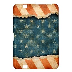 Grunge Ripped Paper Usa Flag Kindle Fire Hd 8 9  by Mariart