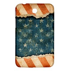 Grunge Ripped Paper Usa Flag Samsung Galaxy Tab 3 (7 ) P3200 Hardshell Case  by Mariart