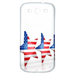 Multiple Us Flag Stars Line Slide Samsung Galaxy S3 S Iii Classic Hardshell Back Case by Mariart