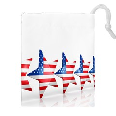 Multiple Us Flag Stars Line Slide Drawstring Pouches (xxl) by Mariart